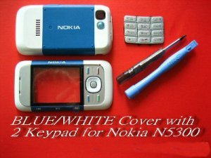 Blue Fascia Housing Cover for Nokia 5300 N5300 with Keypad