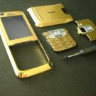 Full Gold Housing Cover for Nokia 6120 N6120 with Keypad
