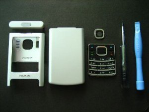 Silver Housing Shell Cover for Nokia 6500 6500c with Keypad