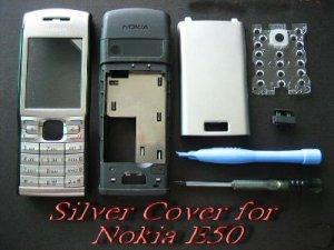 Silver Full Housing Shell Cover for Nokia E50