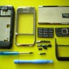 Nokia E66 Replatement Housing Cover Silver Black