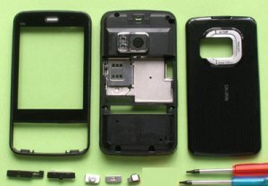 Black Faceplate Housing Full Cover Case For Nokia N96