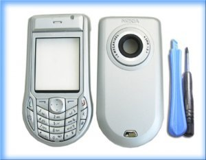 Nokia 6630 Silver Housing Cover Nokia Fascia