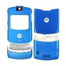Blue Faceplate Housing Cover Case for Motorola V3