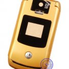 Golden Faceplate Housing Cover Case for Motorola V3x