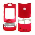 Red Faceplate Housing Cover Case for Motorola V3i