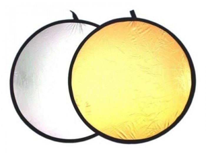 2 in 1 Gold Silver Light Collapsible Reflector 110cm