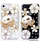 Cute Pumpkin Coach Bling Crystal Handmade Mobile Phone Case Cover For Apple iPhone 5