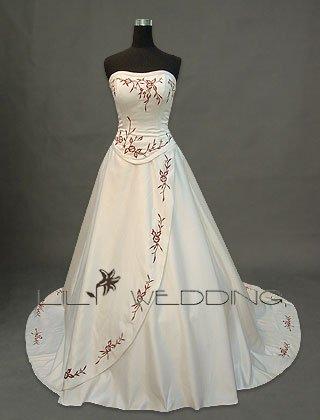 Formal A Line Wedding Dress - Style LWD0019