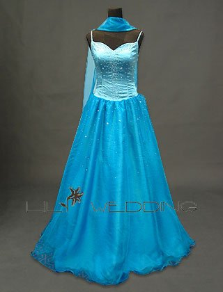 Turquoise Wedding Dress - Style LWD0020
