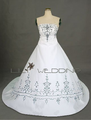 Bridal Dress In Satin - Style LWD0023