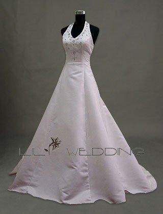 Halter Neckline Wedding Gown - Style LWD0043