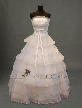Multi-Tiered Skirt Wedding Dress - Style LWD0050