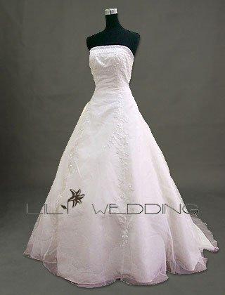 Floor Length Wedding Dress - Style LWD0054