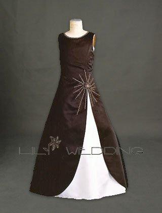 Satin Flower Girl Dress - Style LFG0003