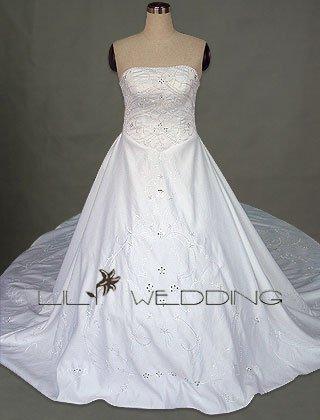 Semi-Cathedral Train Wedding Dress - Style LWD0060
