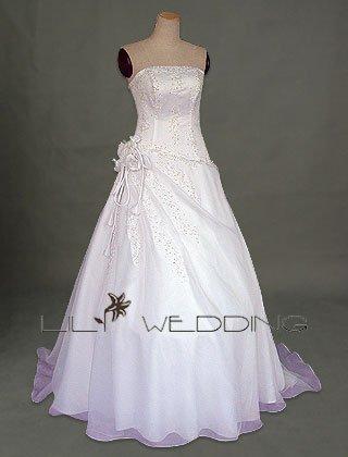 A-Line Asymmetrical Wedding Dress - Style LWD0062