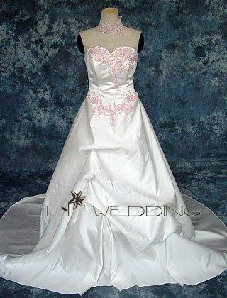 Sweetheart Strapless Wedding Dress - Style LWD0066