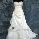 A-Line Sweetheart Neckline Strapless Bridal Gown - Style LWD007