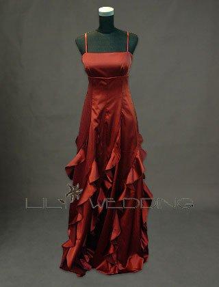 Spaghetti Straps A-Line Bridesmaid Dress - Style LED0008