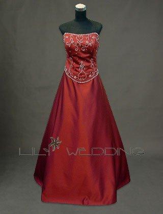 Satin Bridesmaid Dress - Style LED0009