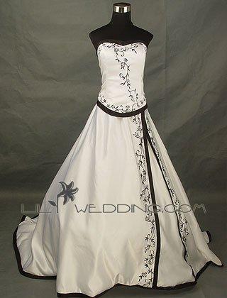 Chapel Length Princess Wedding Dress - Style LWD0074