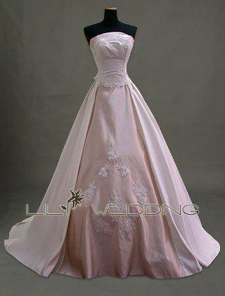 Basque Waist Formal Wedding Dress - Style LWD0076