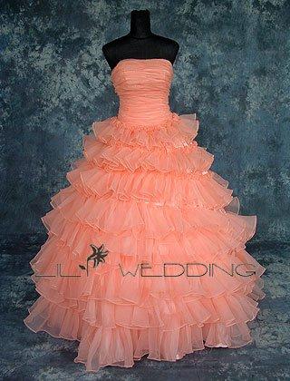 Beadwork Ball Gown Wedding Dress - Style LWD0078