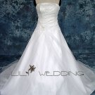 A-Line Floor Length Wedding Dress - Style LWD0090