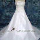A-Line Floor Length Wedding Dress - Style LWD0090