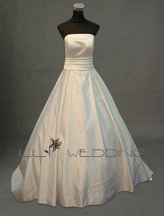 Elegant Chapel Train Wedding Gown - Style LWD0094