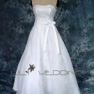 Floral Embroidery Bridal Gown - Style LWD0096