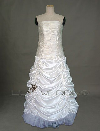 Satin&Tulle Formal Bridal Gown - Style LWD0103