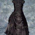Spaghetti Strap Black Bridesmaid Dress - Style LED0016