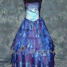 Spaghetti Straps Blue Bridesmaid Dress - Style LED0017