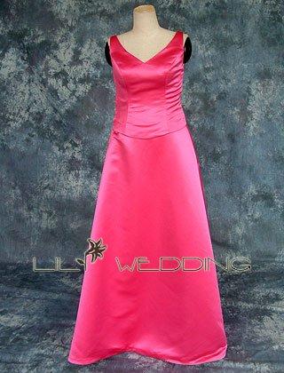 V-Neck Style Cheap Bridesmaid Dress - Style LED0018