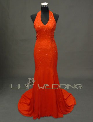 Halter Neckline Bridesmaid Dress - Style LED0019
