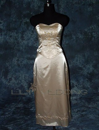 Champagne Discount Bridesmaid Dress - Style LED0021