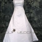 A-Line Satin Bridal Gown - Style LWD0112