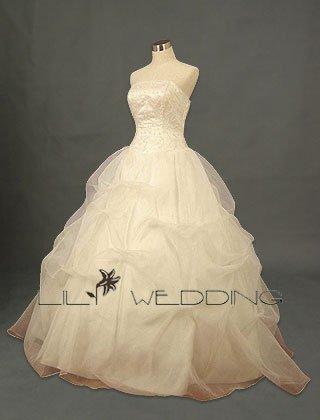 Sleeveless Satin Bodice Adorned With Beadworks - Style LWD0115