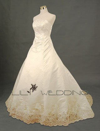 Strapless Bridal Gown - Style LWD0124