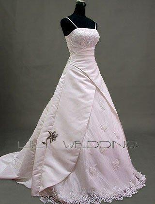 Spaghetti Straps Wedding Dress - Style LWD0125
