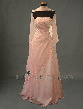 Floor Length Bridesmaid Dress - Style LED0033