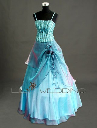 Spaghetti Straps Bridesmaid Dress - Style LED0036
