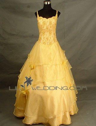 Beaded Lace Bridesmaid Dress - Style LED0037