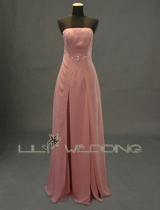 Chiffon With Beads And Sequins Bridesmaid Dress - Style LED0041