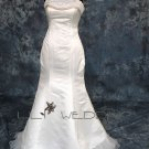 Neckline Beadings Bridal Dress - Style LWD0132