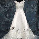 V-Neck Tank Style Wedding Dress - Style LWD0134