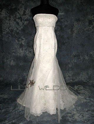 Mermaid Sleeveless Wedding Dress - Style LWD0138