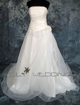 A-Line Chapel Gown - Style LWD0139